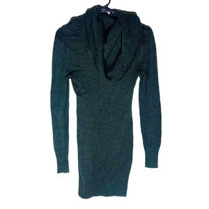 H&M Cowl Neck Forest Green Sweater Dress